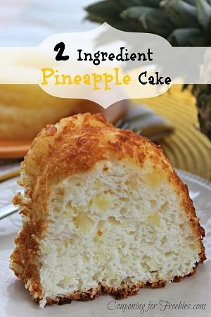 2 Ingredient Pineapple Cake Recipe