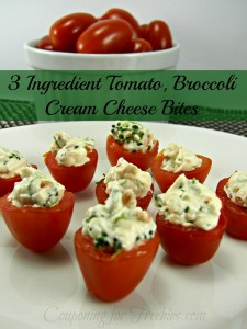 EASY 3 Ingredient Tomato, Broccoli Cream Cheese Bites