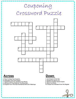Cash in coupons crossword