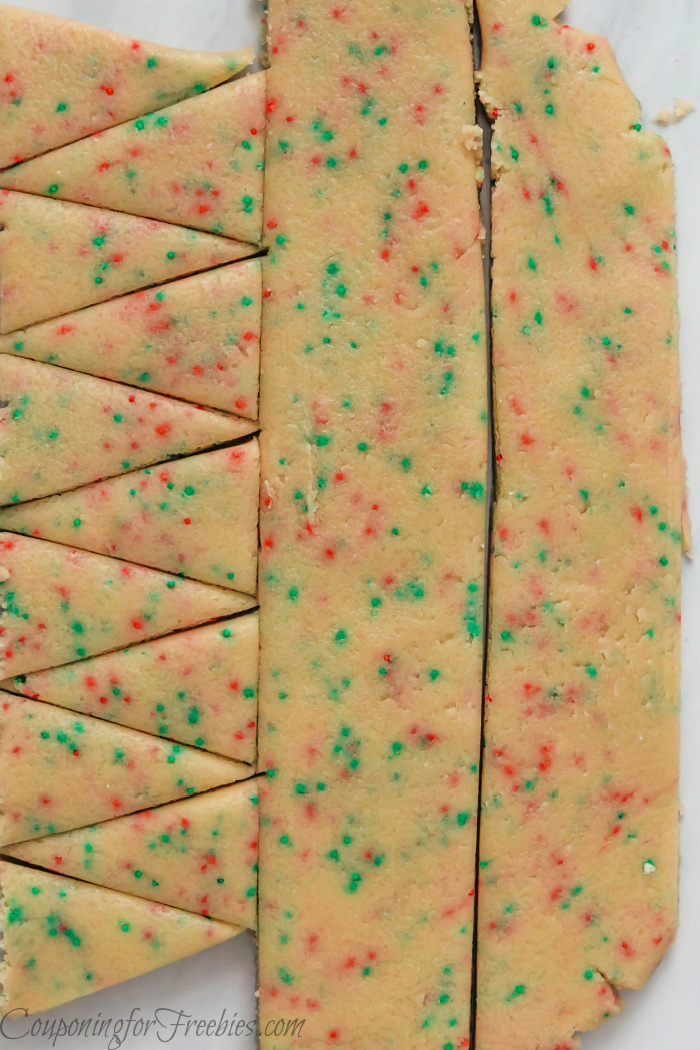 Cutout cookie dough