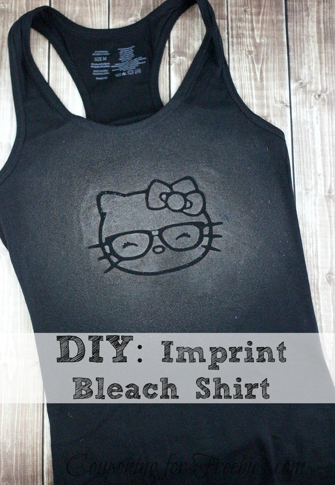 DIY Imprint Bleach Shirt