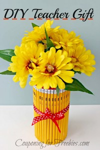 DIY Teacher Gifts Pencil Vase