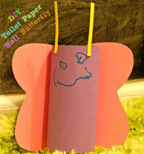 DIY: Toilet Roll Paper Butterfly Kid Craft
