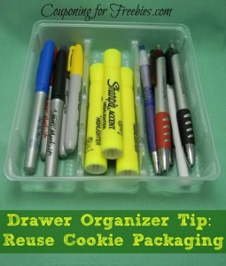 Drawer Organizer Tip: Reuse The Cookie Packaging For Drawer Organizer!