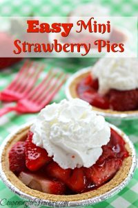 Nothing like the taste of fresh strawberries. If you are looking for a recipe to use up some of your strawberries, check out this super Easy Mini Strawberry Pies!