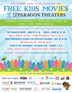 FREE Movies This Summer At Paragon Theaters