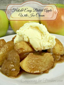 Fast Easy Baked Apple With Ice Cream cff