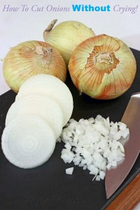 Wednesday's Weekly Savings Tips: Can You Cut Onions Without Crying? Sure You Can When You Use These Tips!