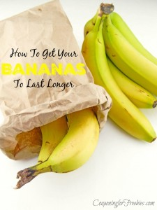 Wednesday's Weekly Savings Tips: How To Get Your Bananas To Last Longer
