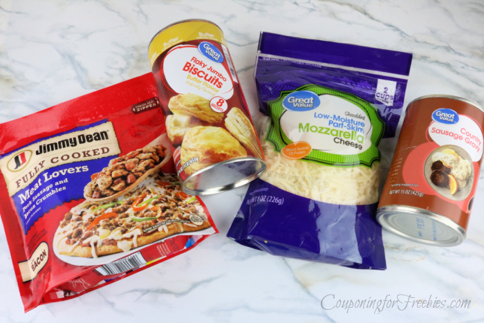 Items needed to make pizzas