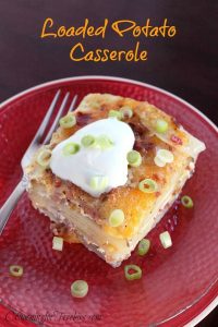 If you love potatoes, I have a super yummy recipe for you to try. It is a recipe for Loaded Potato Casserole!