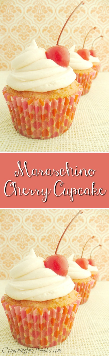 This is a MUST try cupcake recipe. It is a Maraschino Cherry Cupcake Recipe and I am sure you will be making this one over and over again!