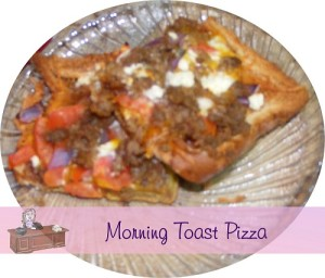 Morning Toast Pizza Recipe