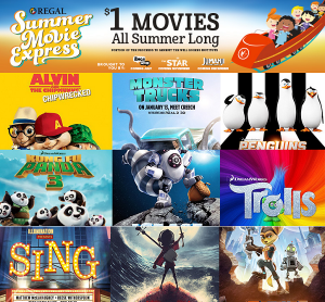 Regal Summer Movie Express – $1 Movies All Summer Long!!