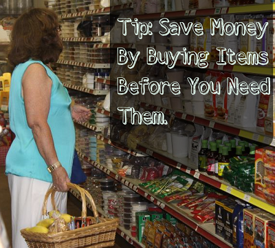 Save Money By Buying Items Before You Need Them