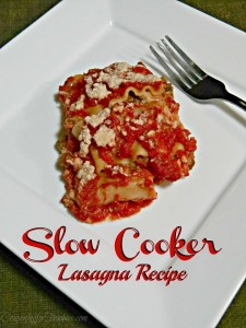 Slow Cooker Lasagna Recipe For National Lasagna Day