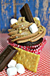 S'more Cupcake Recipe - Super easy recipe to make and one of the best cupcakes you will ever have!