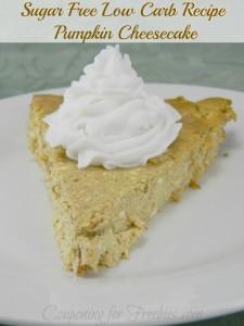Sugar FREE Low Carb Recipe For Pumpkin Cheesecake