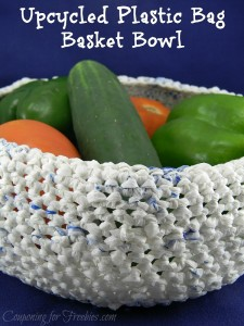 Upcycled Plastic Bag Basket Bowl