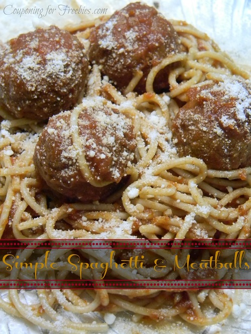 Very Simple Spaghetti and Meatballs