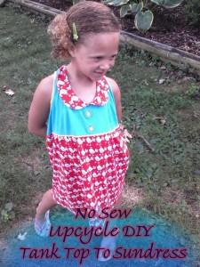 Upcycle DIY: No Sew, Turn An Old Tank Top Into A Little Girls Sundress