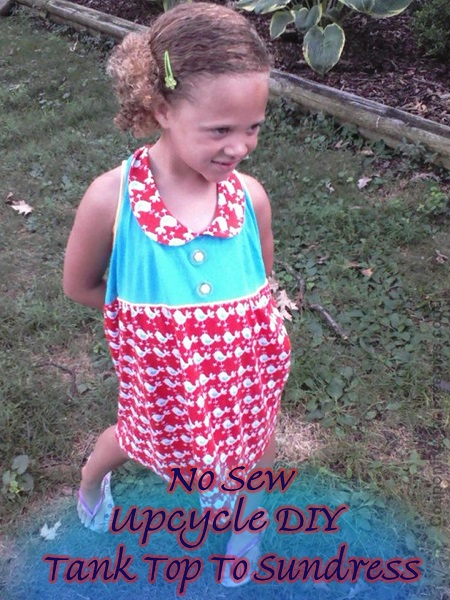 Upcycle DIY Craft Tank Top To Sundress